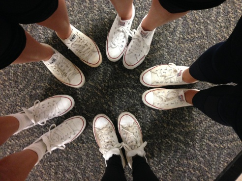 Furman ADPi's Rocking their white converse?