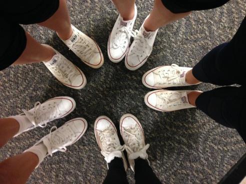 Furman ADPi's Rocking their white converse?